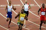 Легкая атлетика. ЧМ. Болт на 200-метровке легко опережает Гэтлина