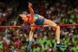 Легкая атлетика. ЧМ. Кучина выиграла прыжки в высоту