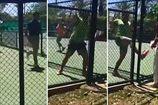 Теннисист отстранен от игры за преследование судьи