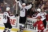 Колорадо бьет Детройт, а Дюшен забивает впервые в НХЛ