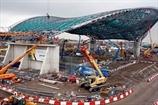 Над олимпийским бассейном в Лондоне появилась крыша